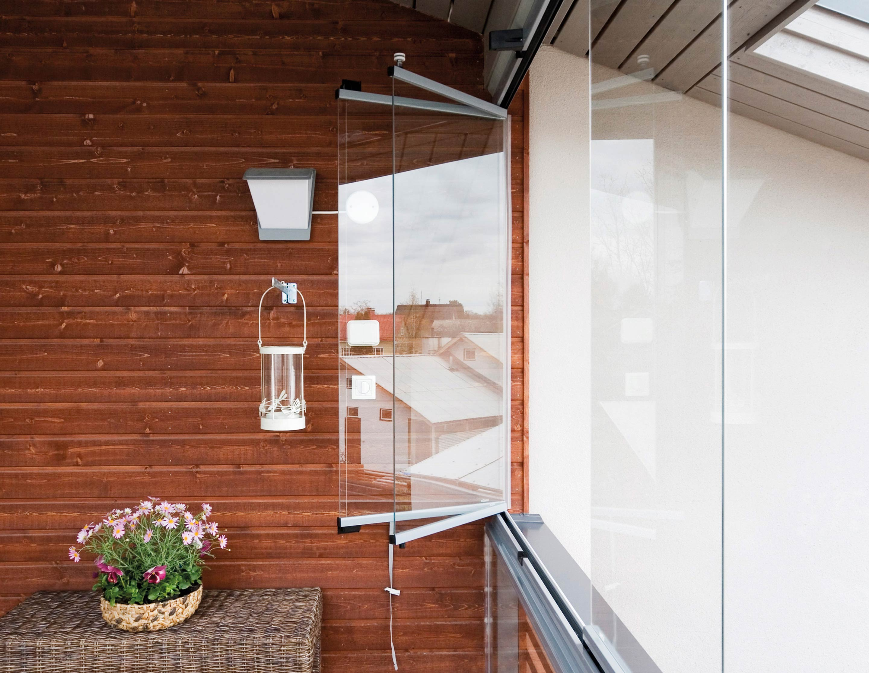 An advantage of a Lumon balcony glazing is that you can open your windows.