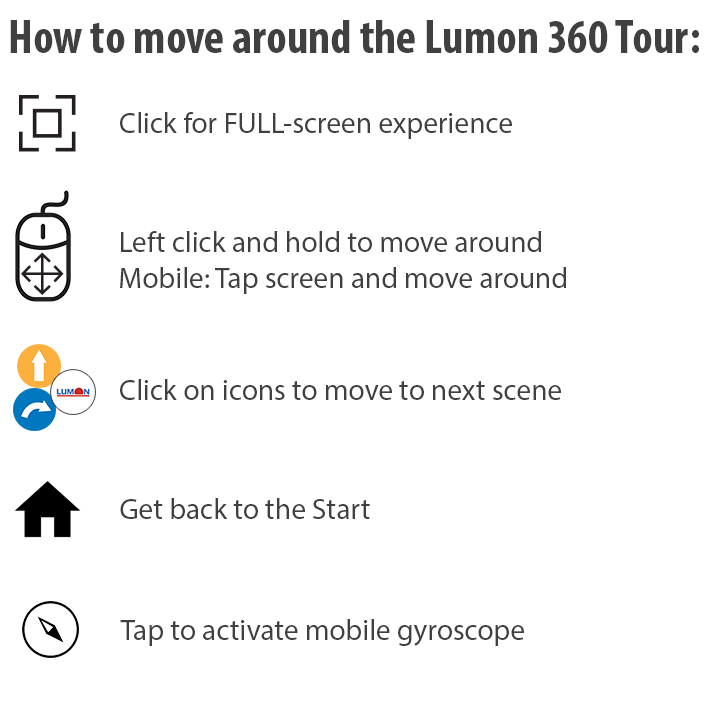 Lumon Canada Enclosed Balcony Virtual 360 Tour Instructions