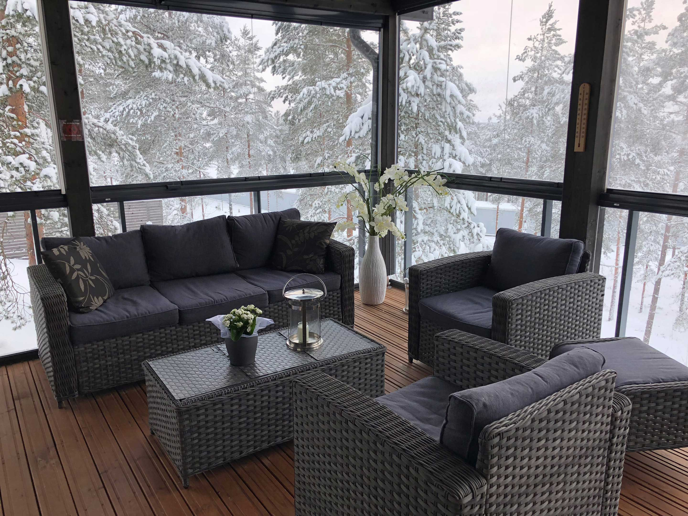 lumon canada, retractable glass enclosure during the winter months