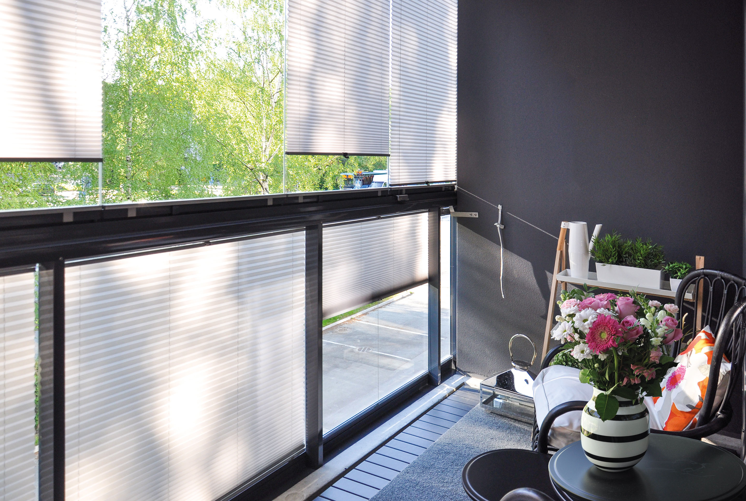 railing blinds, balcony blinds, balcony railing blinds