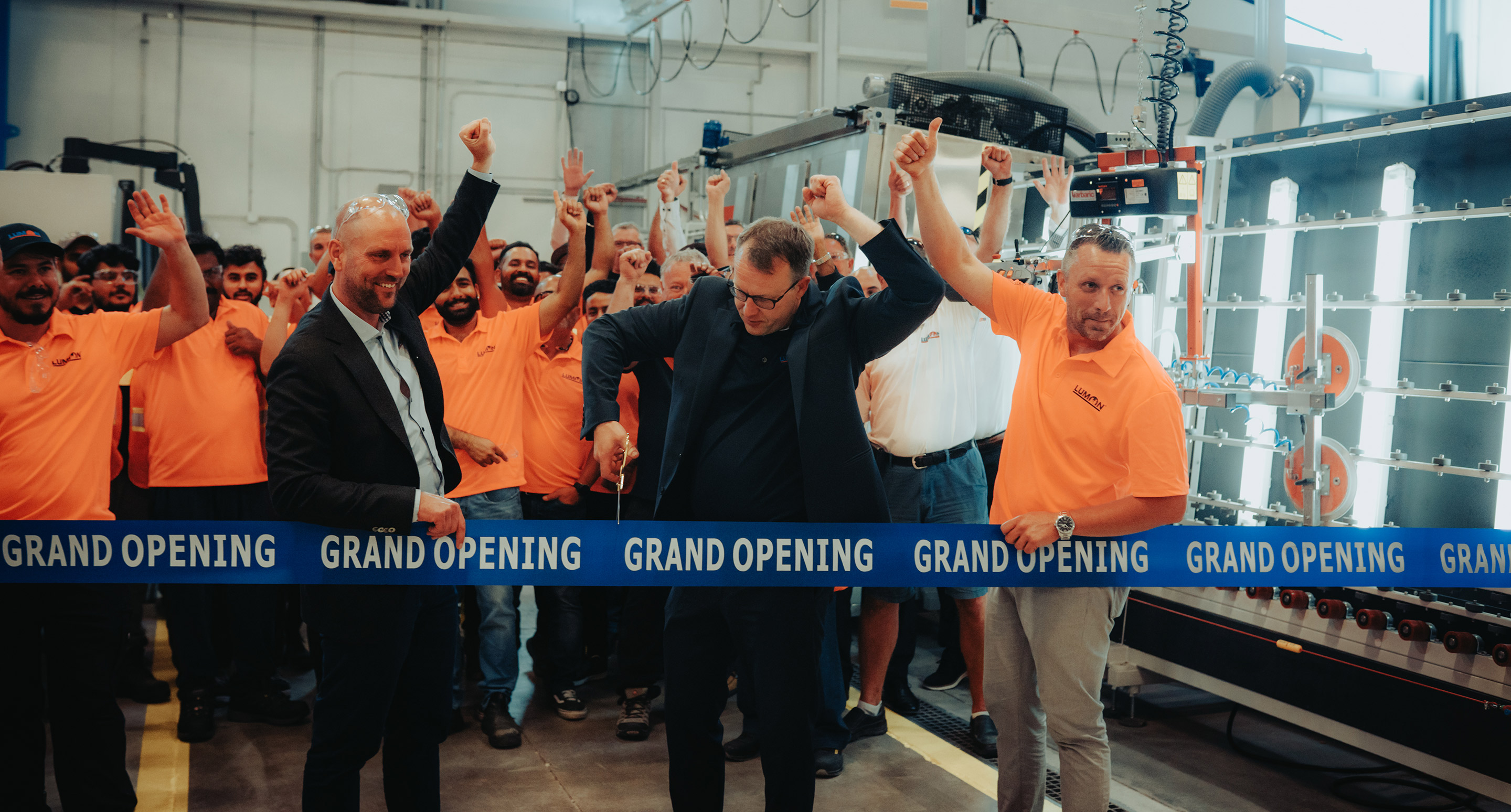 Lumon Canada's glass processing factory investment completed and production started