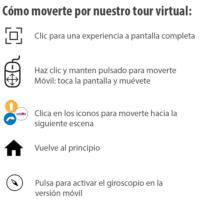 Instrucciones Tour Virtual Lumon