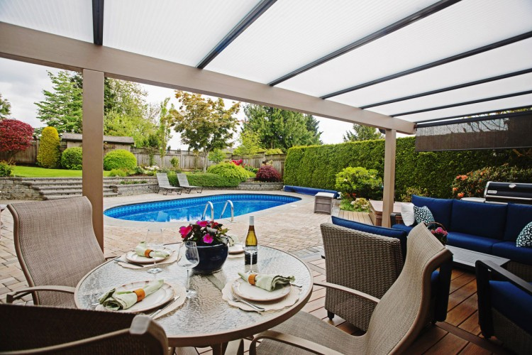wood frame patio cover