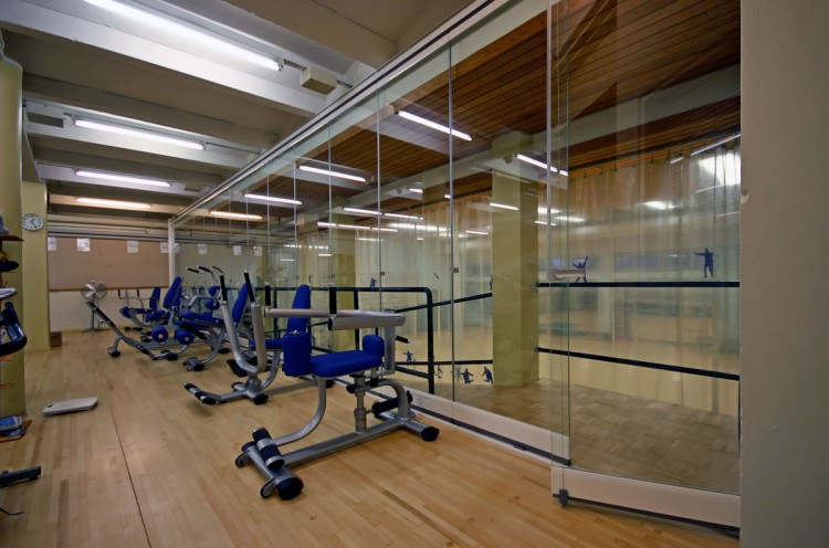 Lumon retractable glass walls for gyms,
