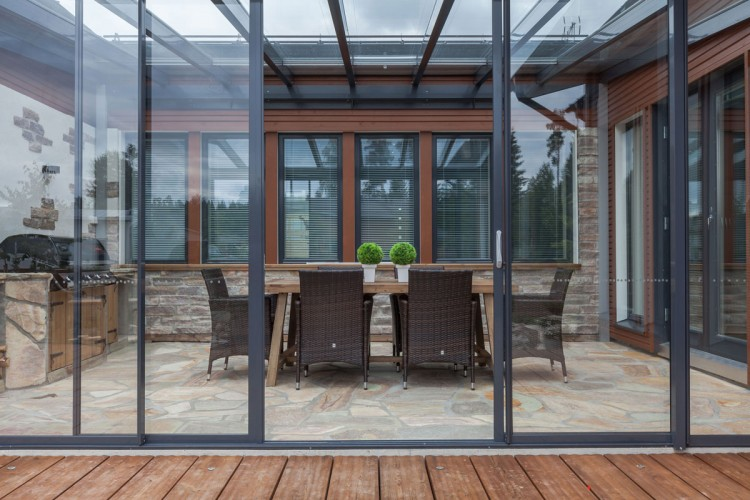 sliding patio glass sunroom, patio glass, glass sunroom, types of sunrooms, sunroom options in canada