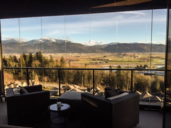 sunroom with a mountain view, Fraser Valley sunroom,