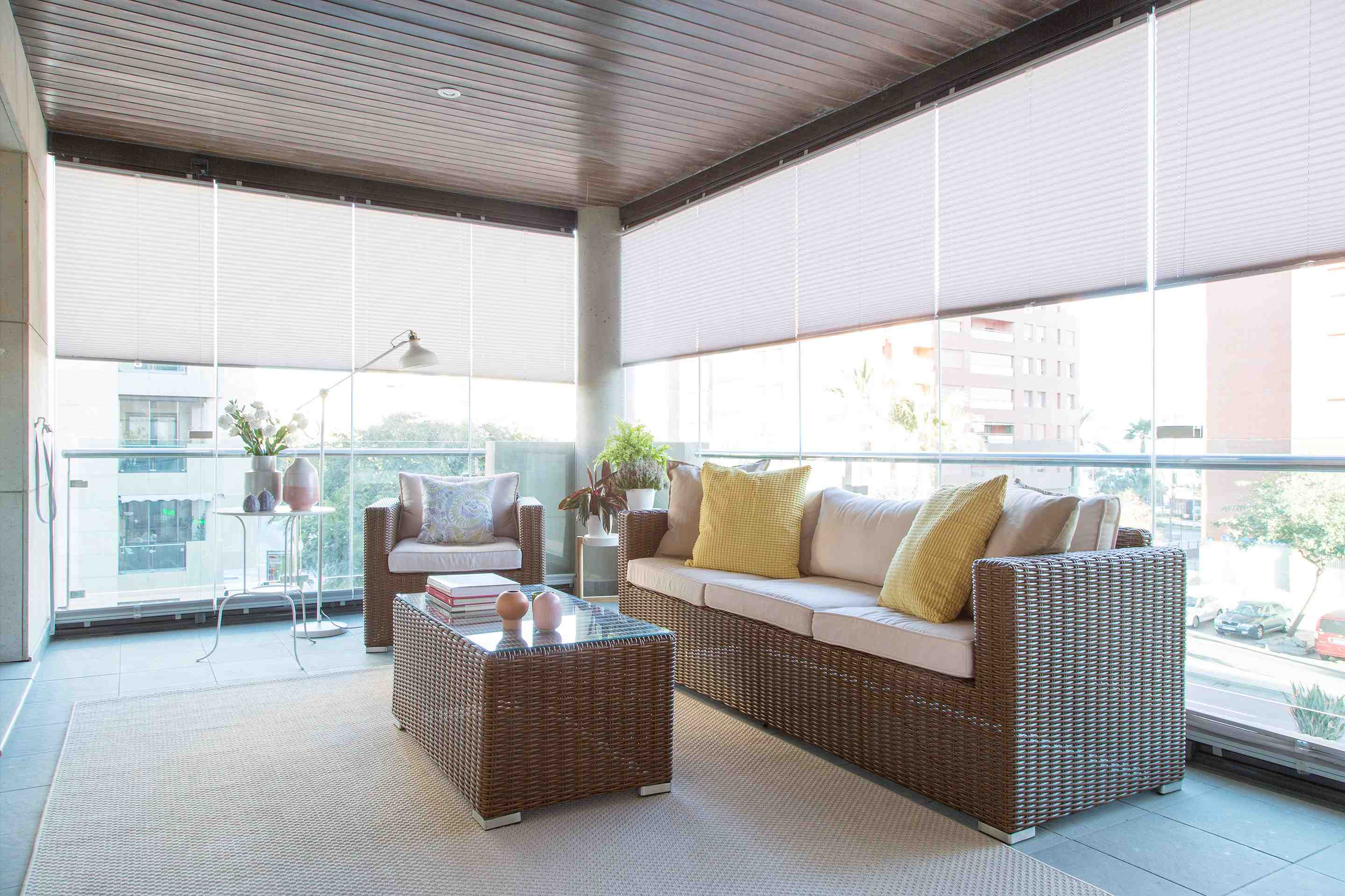 balcony blinds, balcony screens, blinds for sunroom windows, blinds for windows