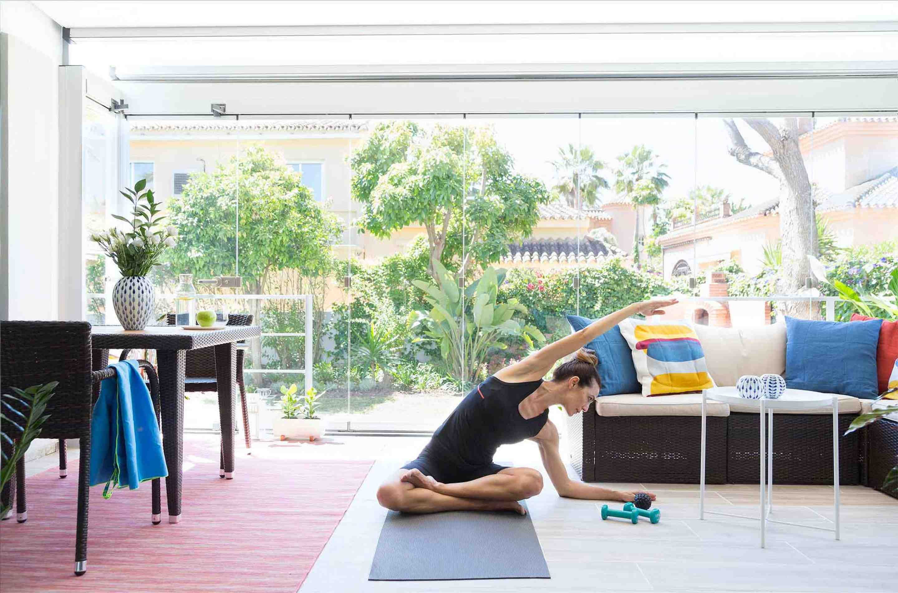 Yoga time on the terrace