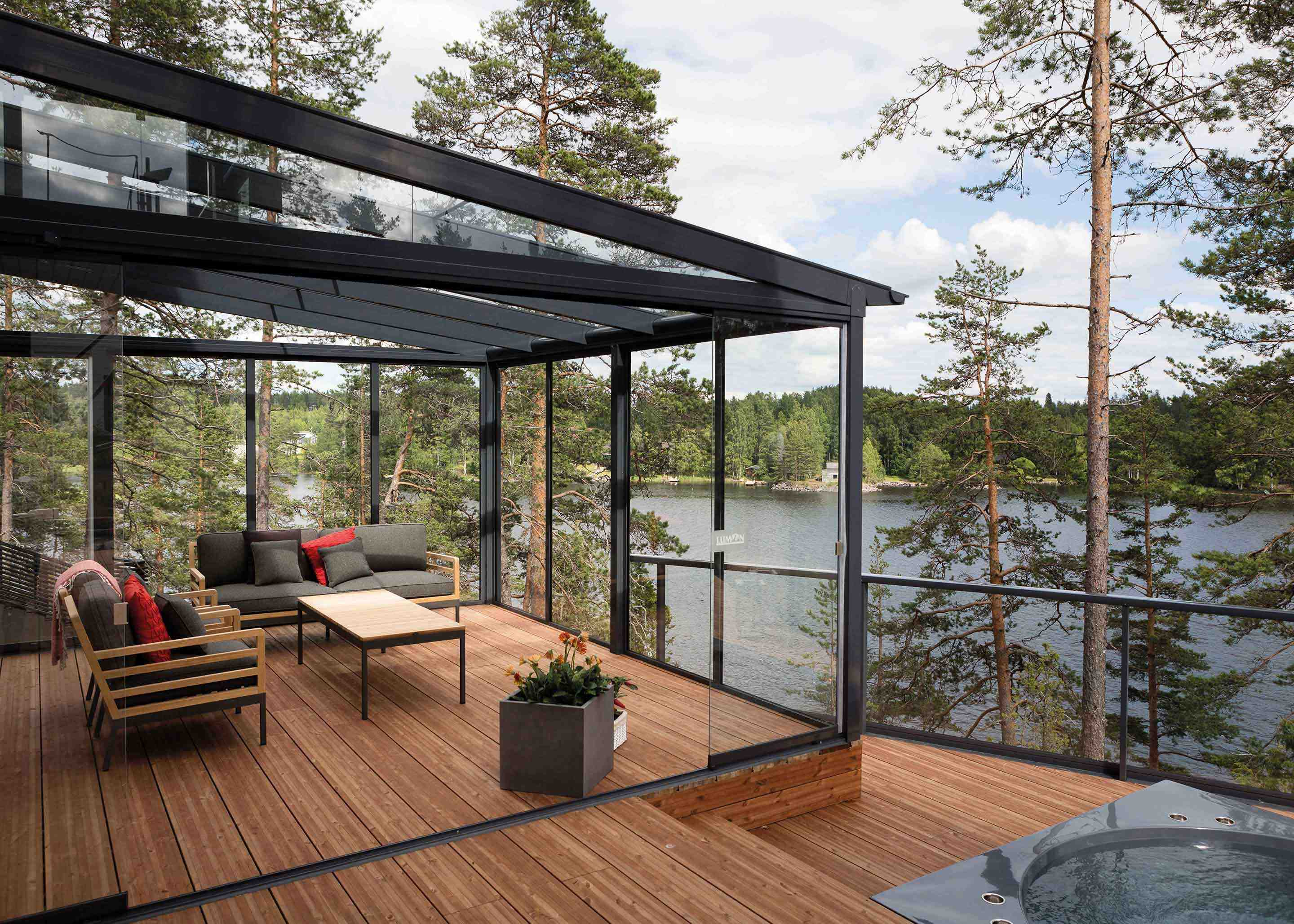Glass roof and terrace glazing