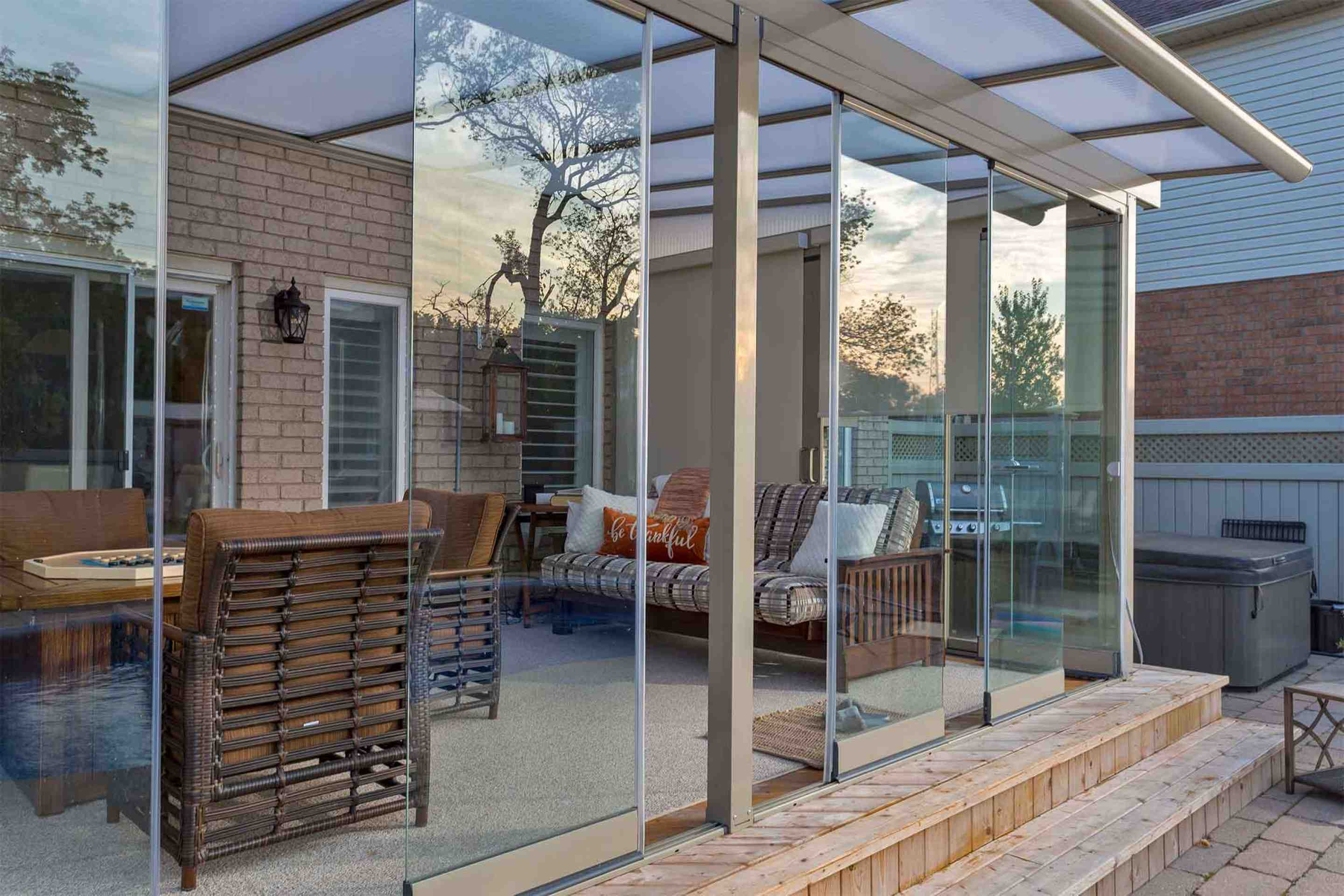 Terrace glass enclosure