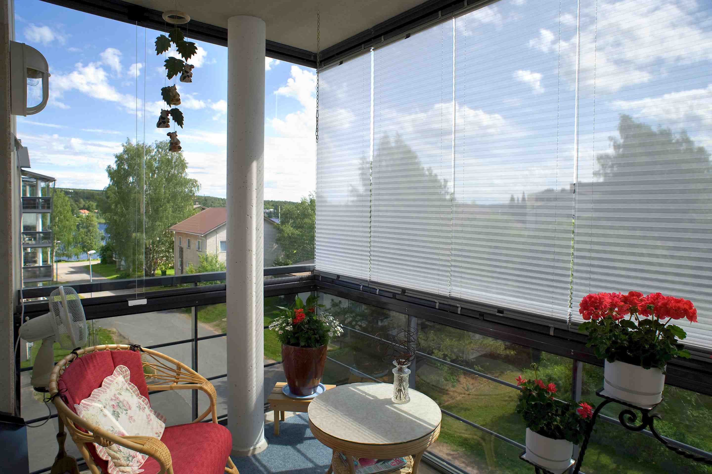 sunroom blinds, balcony blinds, window blinds