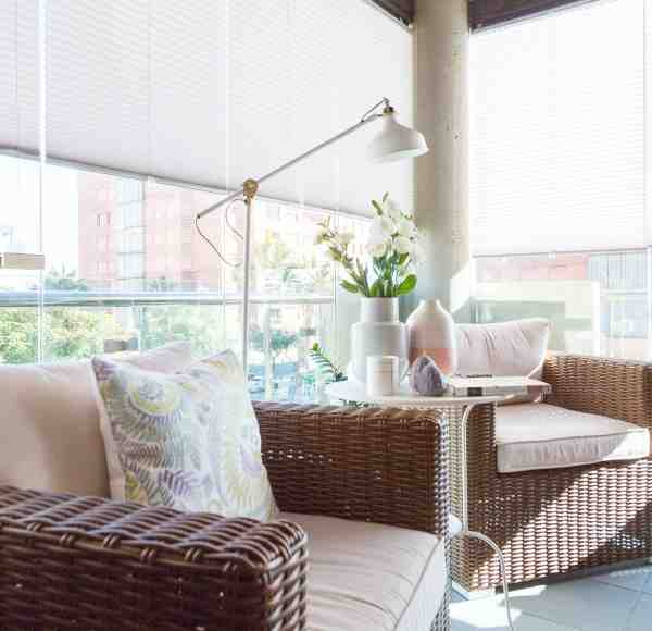 balcony shades, pleated blinds for your balcony, balcony blinds, railing blinds